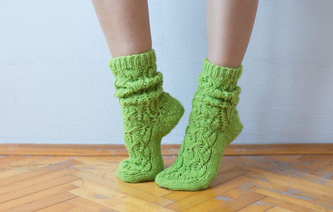 НИТИ светло зелене чарапе